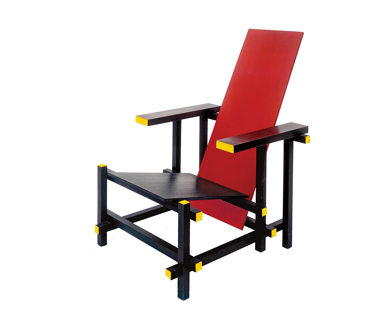 Rietveld's Red and Blue chair, designed in 1917, is a dramatic composition of planes and lines. The colors were inspired by Mondrian, a fellow member of the influential De Stijl movement.  Photo 3 of 8 in Et tu, Bertus?