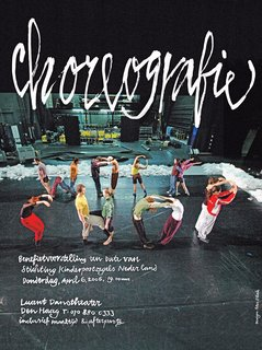 """Bil'ak designed the NDT Choreography Workshop poster using dancers to spell out """"workshop."""""""