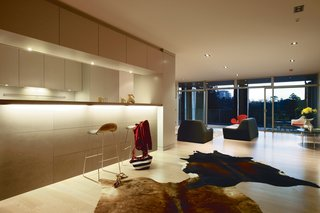 The temperature inside the airy and open interiors is largely regulated by the concrete building's high thermal mass.