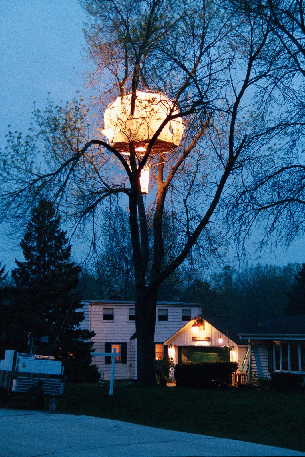 The 02 Sustainability Tree  House would keep even the most ardent tree hugger happy.  Photo 1 of 2 in By Poplar Demand