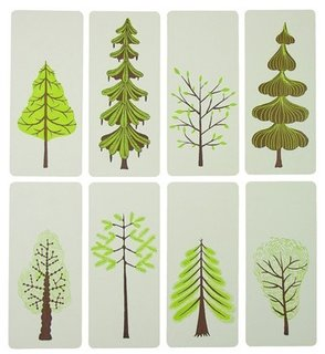 Yeehaw Mini Trees Letterpress Cards, set of 8, $20  Available at Etsy