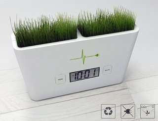 Plugging a cord into a socket or inserting a battery may seem like the easiest way to power a small appliance but it's not the only way. Italian designers Francesco Castiglione Morelli & Tommaso Ceschi designed the Timeless Garden concept clock as a demonstration of the way in which a few simple scientific principles can provide you with self-sustaining electricity.