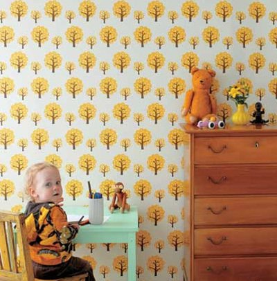 Washable wallpaper? Say it ain't so. Interior product site Ferm Living offers us WallSmart, a line of kid-friendly (and very mother-approved!) non-woven wallpapers. Available in four designs (Dotty, Rush Hour, Animal Farm and Butterflies).  Photo 6 of 42 in Wallpaper That Fixes Walls
