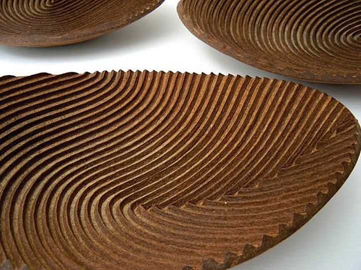 A Kraft paper-and-banana-fiber bowl by Domingo Totora.  Photo 7 of 8 in On a Smartpath