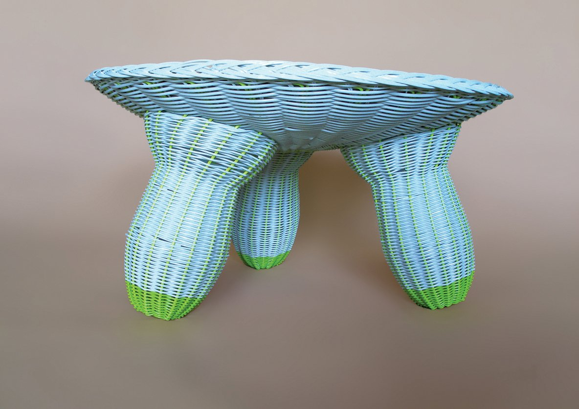 A handwoven plastic table by Argentinian designers Federico Churba Patricio Lix Klett.  Photo 8 of 8 in On a Smartpath