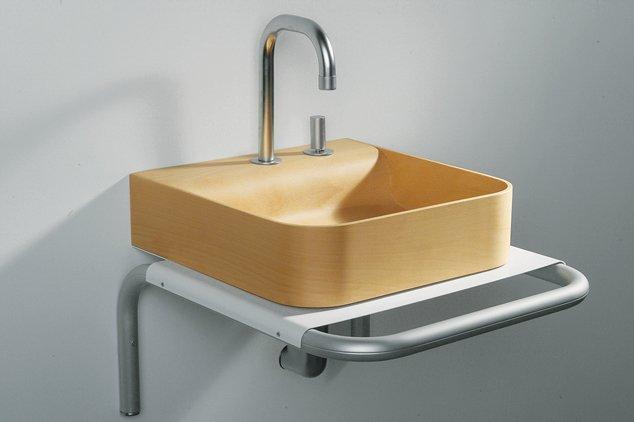 AERI sink in birch wood by Whitehause Collection.  Bathrooms: Wood by Virginia Gardiner