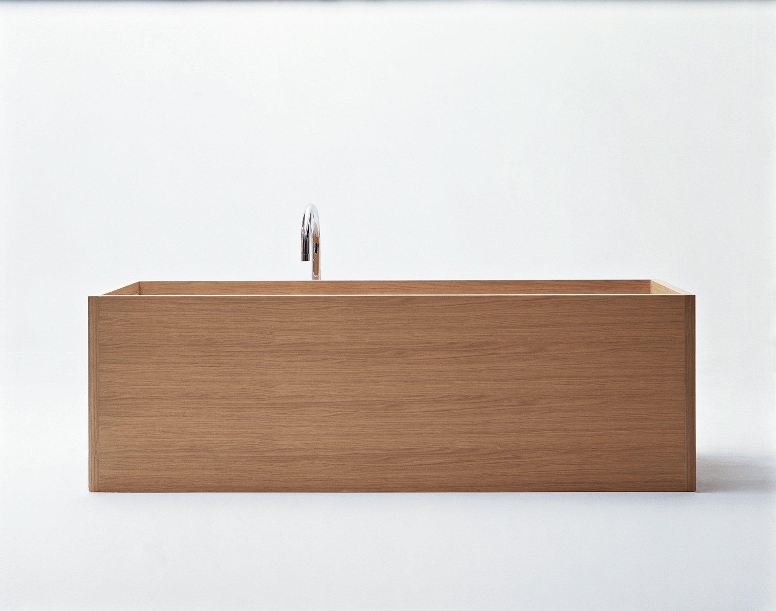 Woodline bathtub in plywood by Benedini Associati for Agape.  Bathrooms: Wood by Virginia Gardiner