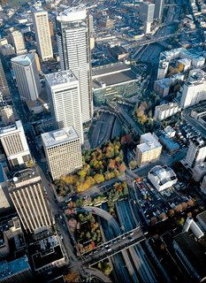 An aerial view of Washington, DC, circa 1993.