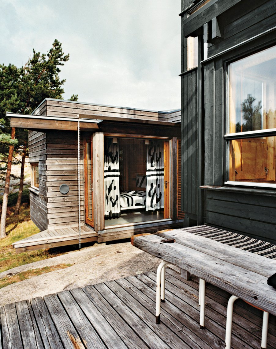Exterior, House Building Type, Cabin Building Type, and Wood Siding Material The master-bedroom addition juts forth like a prow of a ship.  Photo 5 of 9 in Norwegian Wood