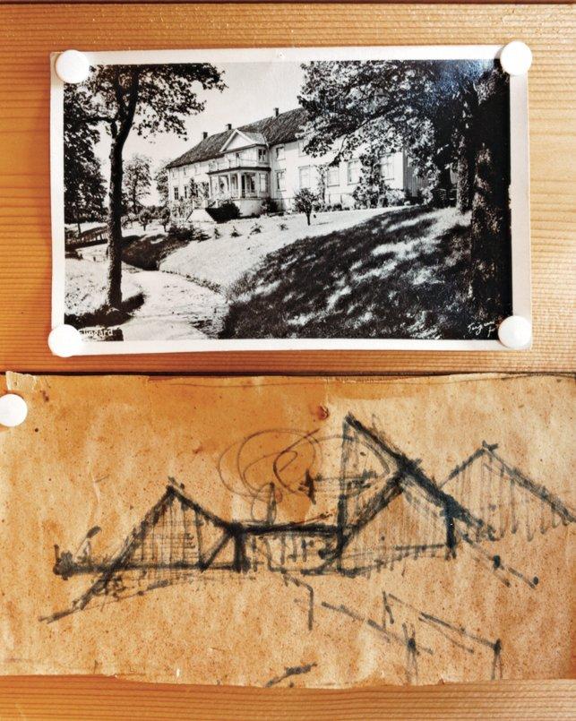 Kiehl's original sketch of Hanko hangs on the wall.  Photo 6 of 9 in Norwegian Wood