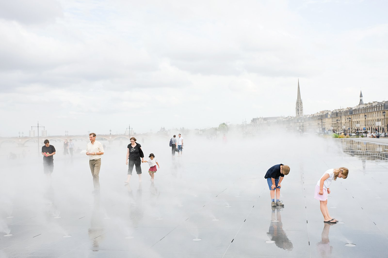 The Water Mirror, a rectangle of half-inch-deep water created by landscape architects Claire and Michel Corajoud, expresses the modern face of a city known for its historic architecture.  Photo 1 of 9 in Bordeaux, France