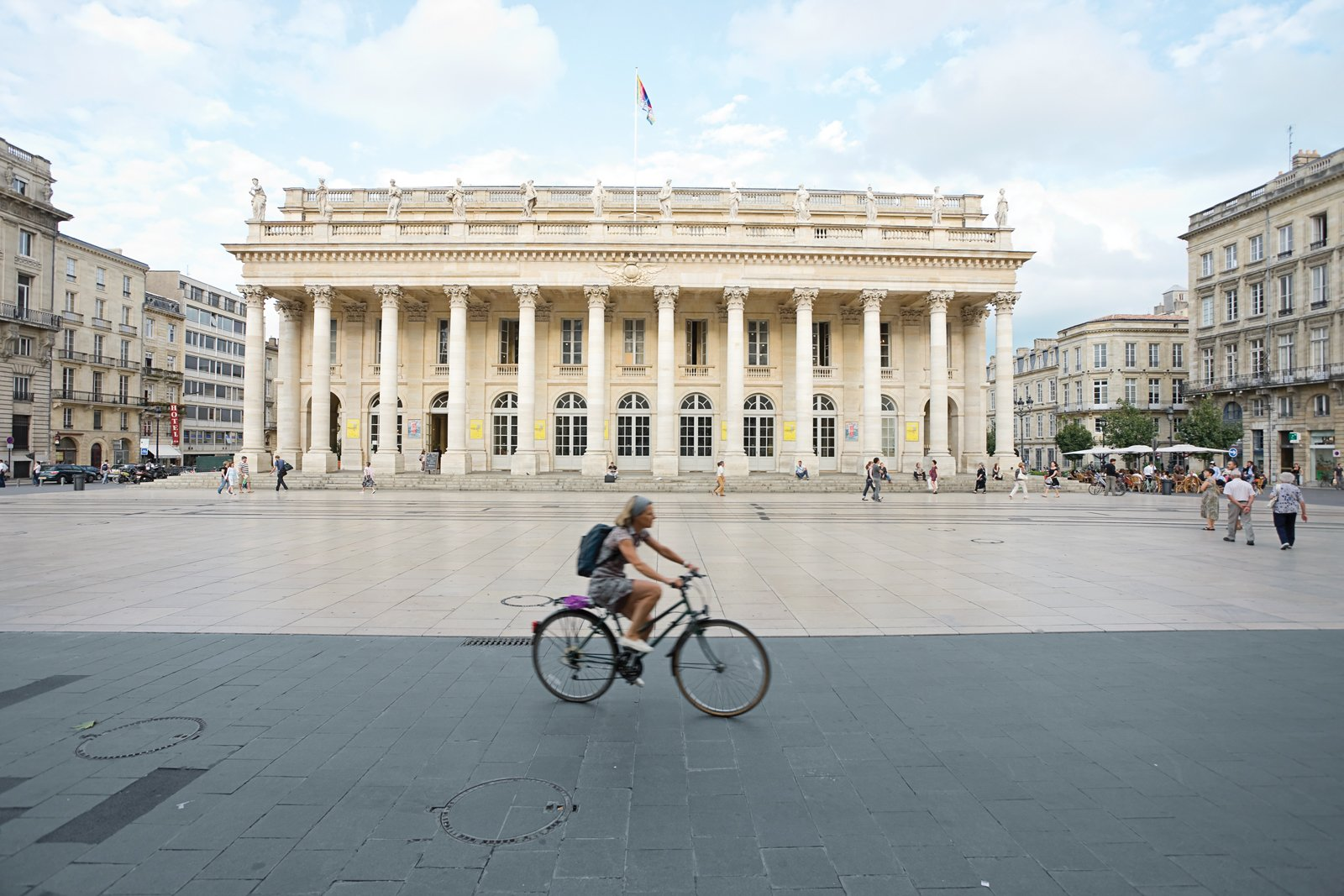 The city's architectural masterwork, Victor Louis's Grand-Théâtre, completed in 1780, is home to the city's National Opera.  Photo 7 of 9 in Bordeaux, France