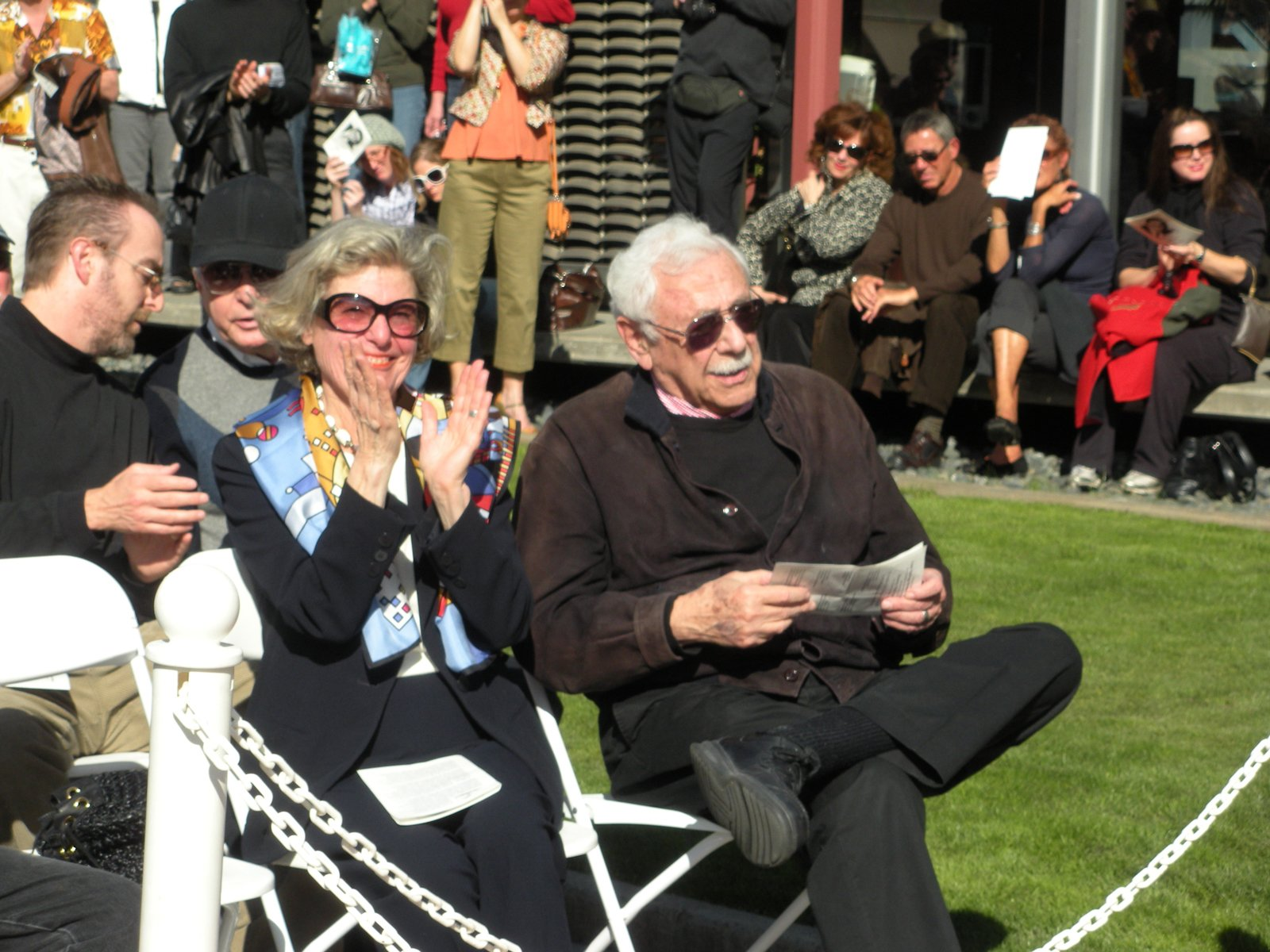 At the 4th Annual Modernism Week in Palm Springs, architect William Krisel was honored with a star bearing his name along the city's Walk of Stars. Krisel is shown above at the ceremony with his wife, Corinne.  Photo 3 of 7 in Palm Springs, California