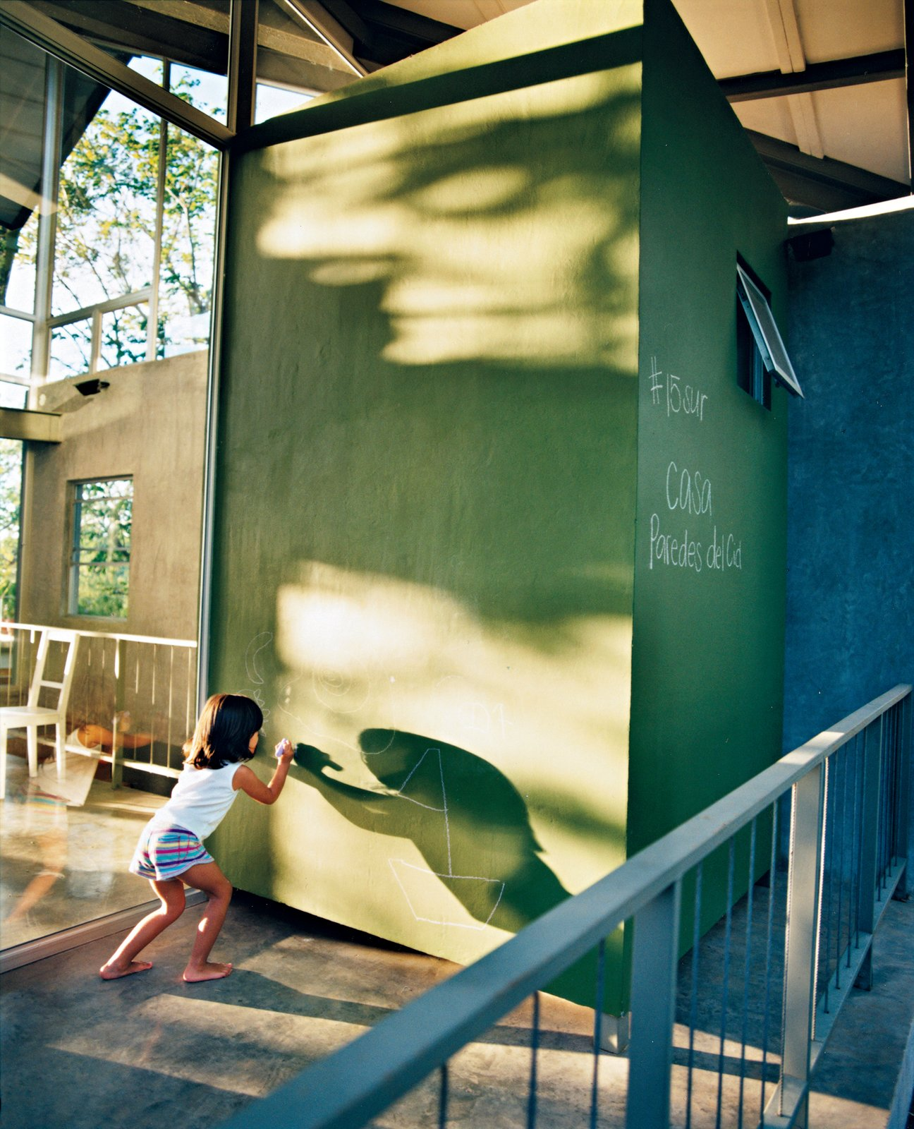 Kids Room and Playroom Room Type Jimena makes use of a giant chalkboard just outside.  Photo 7 of 8 in Welcome to the Jungle