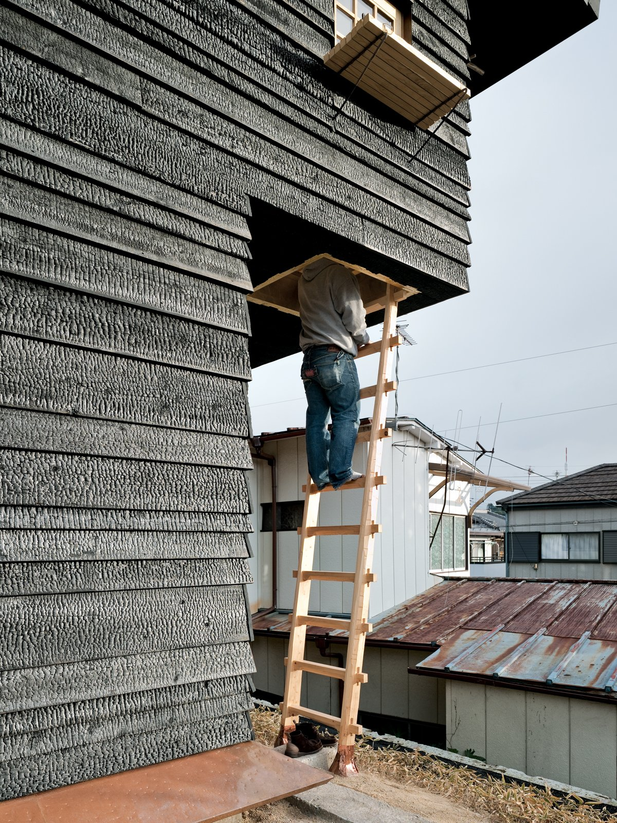 """The climb to the Coal House tea room is purposely precarious. Fujimori wants visitors to """"be a little afraid"""" on their way up; it's """"a device to make you feel and think differently in this space.""""  Photo 11 of 23 in Terunobu Fujimori"""