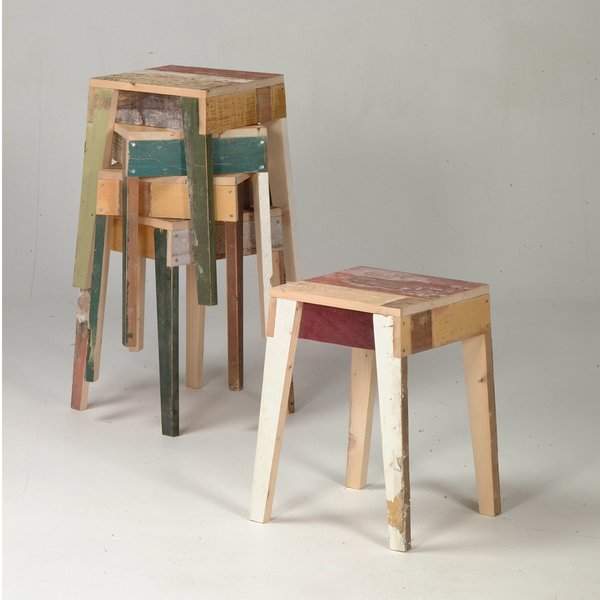 Barstools in scrapwood