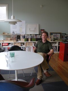 Architect Brett Zamore in his office in Houston, Texas