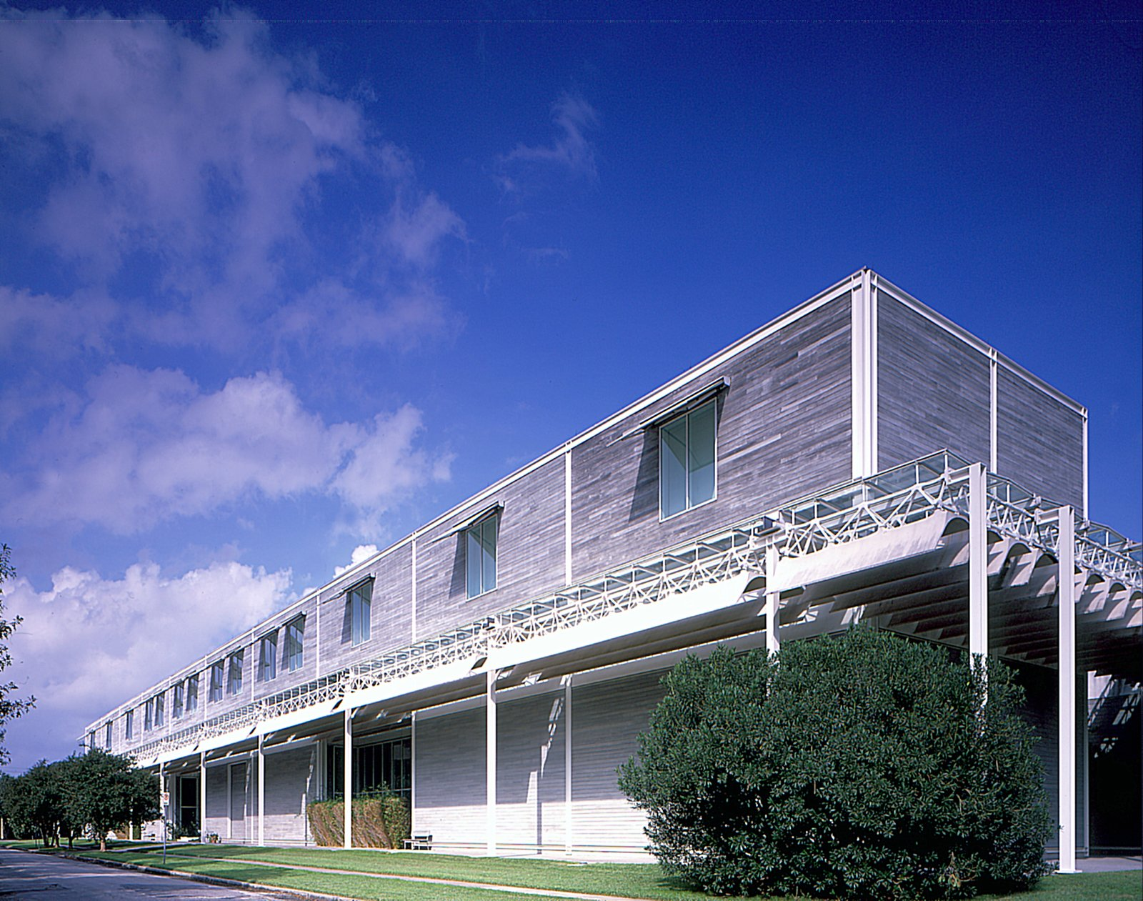The Menil Collection building by acclaimed architect Renzo Piano. Visit the Menil Collection online at menil.org.  Photo 14 of 17 in Houston, Texas