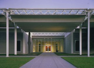 The Menil Collection, located in Houston's Montrose-area museum district, houses the collection of John and Dominique de Menil. The landmark building was designed by Pritzker Prize-winning architect Renzo Piano. Image courtesy of the Greater Houston Convention and Visitors Bureau.