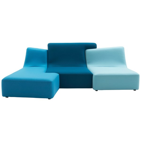 CONFLUENCES SOFA  This armless modular sofa by Philippe Nigro can help you finally make your move, as you cuddle up to your woo-ee in a cozy Confluence of well-designed intentions.