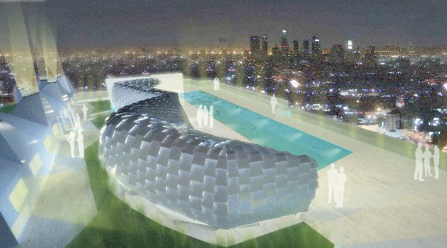 The slick new cabana concept, designed by Daly Genik.  Photo 10 of 10 in The W Hollywood Residences