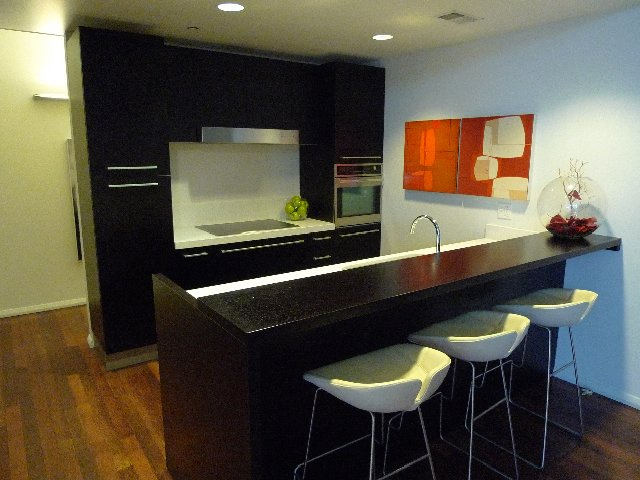 The demo kitchen with Poliform, Sub-Zero and Kuppersbusch appliances, at the W Hollywood Welcome Center.  Photo 7 of 10 in The W Hollywood Residences