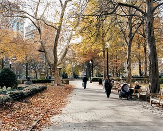 Rittenhouse Square, an idyllic, multi-block park dating to the late 17th century, is reliably populated with sunbathers and summer music festivals.