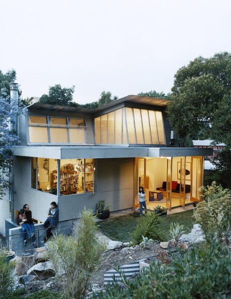 """The Fung/Blatt family enjoys the backyard of their Mount Washington home. Despite its 5,000-square-foot lot, the house is just 1,640 square feet. Michael Blatt admits, """"If we could add anything to this house, it would be five walk-in closets."""""""