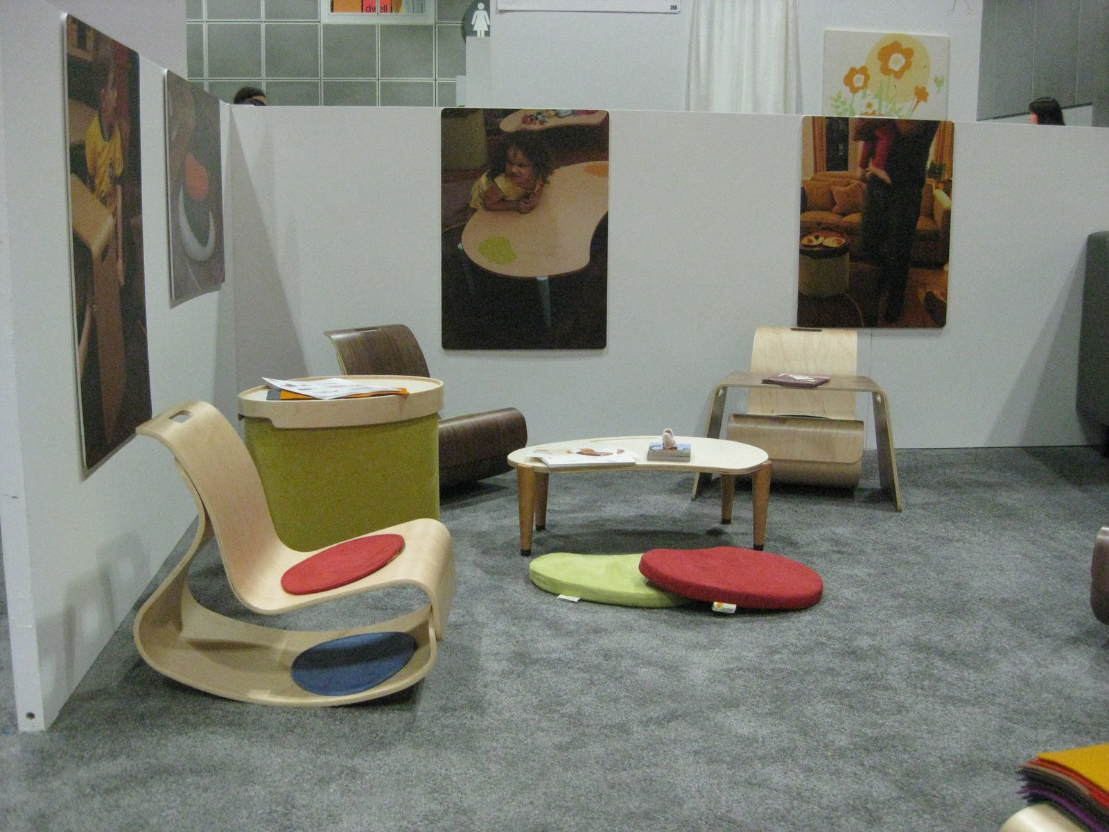The mod rocker and lima play table, part of the Igloo Play collection by Lisa Albin Design. The collection is eco-friendly, and made in the USA.  Modern Family at Dwell on Design by Dwell from Modern Family Roundup at DOD