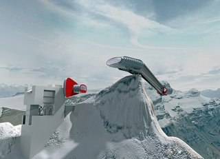Panoramic Restaurant at Les Diablerets, Gstaad  Photo courtesy of   Ron Arad Associates and the Museum of Modern Art