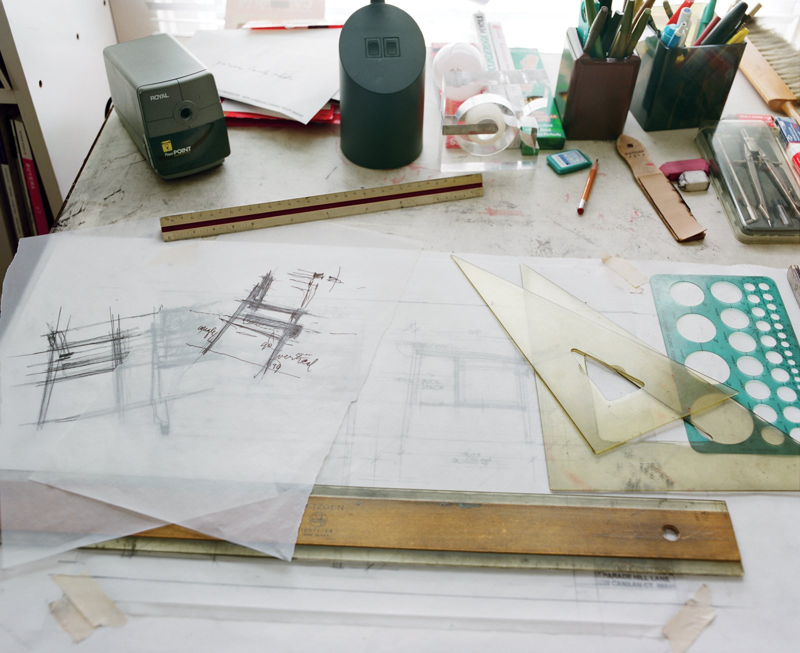 Like many of his generation, Risom still sketches by hand.  Photo 2 of 6 in Fascinating Risom