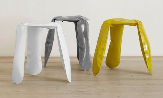 Oskar Zieta's Plopp stool inspired Miska Miller-Lovegrove to curate the Young Creative Poland show.  Photo 1 of 4 in Live from London: Brompton District
