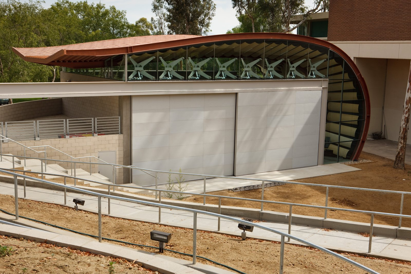 CalArts School of Music - construction of the Wild Beast ampitheater  Photo 4 of 6 in The Wild Beast by Hodgetts + Fung
