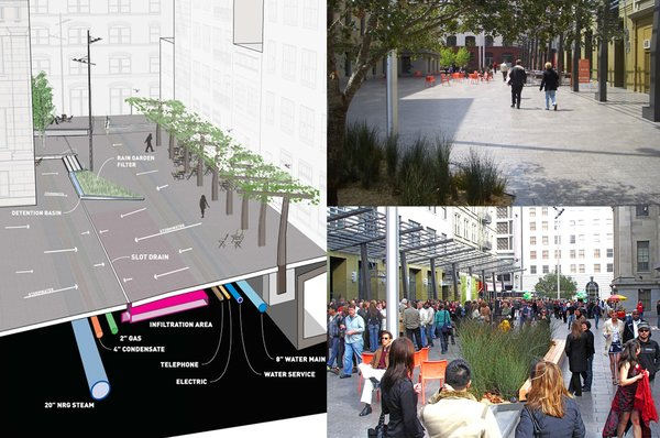 Mint Plaza in San Francsico, California, and other urban spaces designed by CMG Landscape Architecture, winner of the New Practices San Francisco 2009 competition.  Photo 9 of 22 in Young Guns: Best New Practices 2009