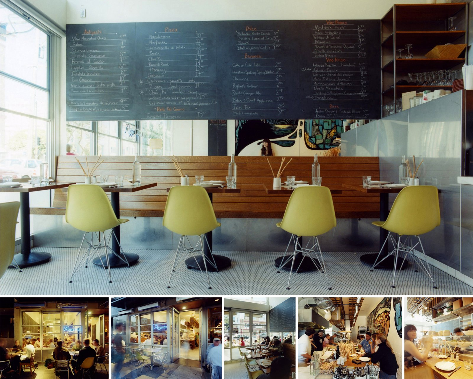 Pizzeria Delfina in San Francisco, California, designed by Envelope A+D, honorable mention in the New Practices San Francisco 2009 competition.  Photo 21 of 22 in Young Guns: Best New Practices 2009