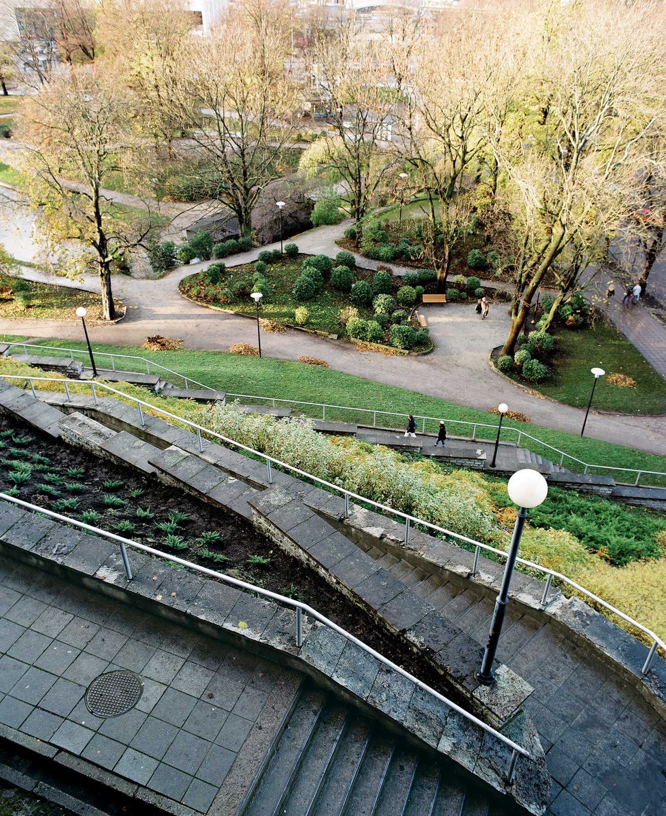 Snelli Park, one of a necklace of lawns beside the old battlements, offers year-round recreation, whether ice-skating on the moat or picnicking on the grass.  Photo 4 of 12 in 5 Reasons Why Landscaping and Bringing Plants Into Your Home Is So Valuable from Tallinn, Estonia