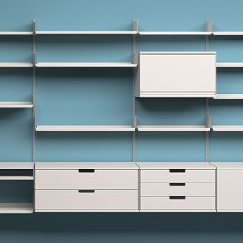 The 606 Universal Shelving System, designed in 1960 for Vitsœ by Dieter Rams.  Photo 3 of 4 in This Weekend: 11.19-11.22