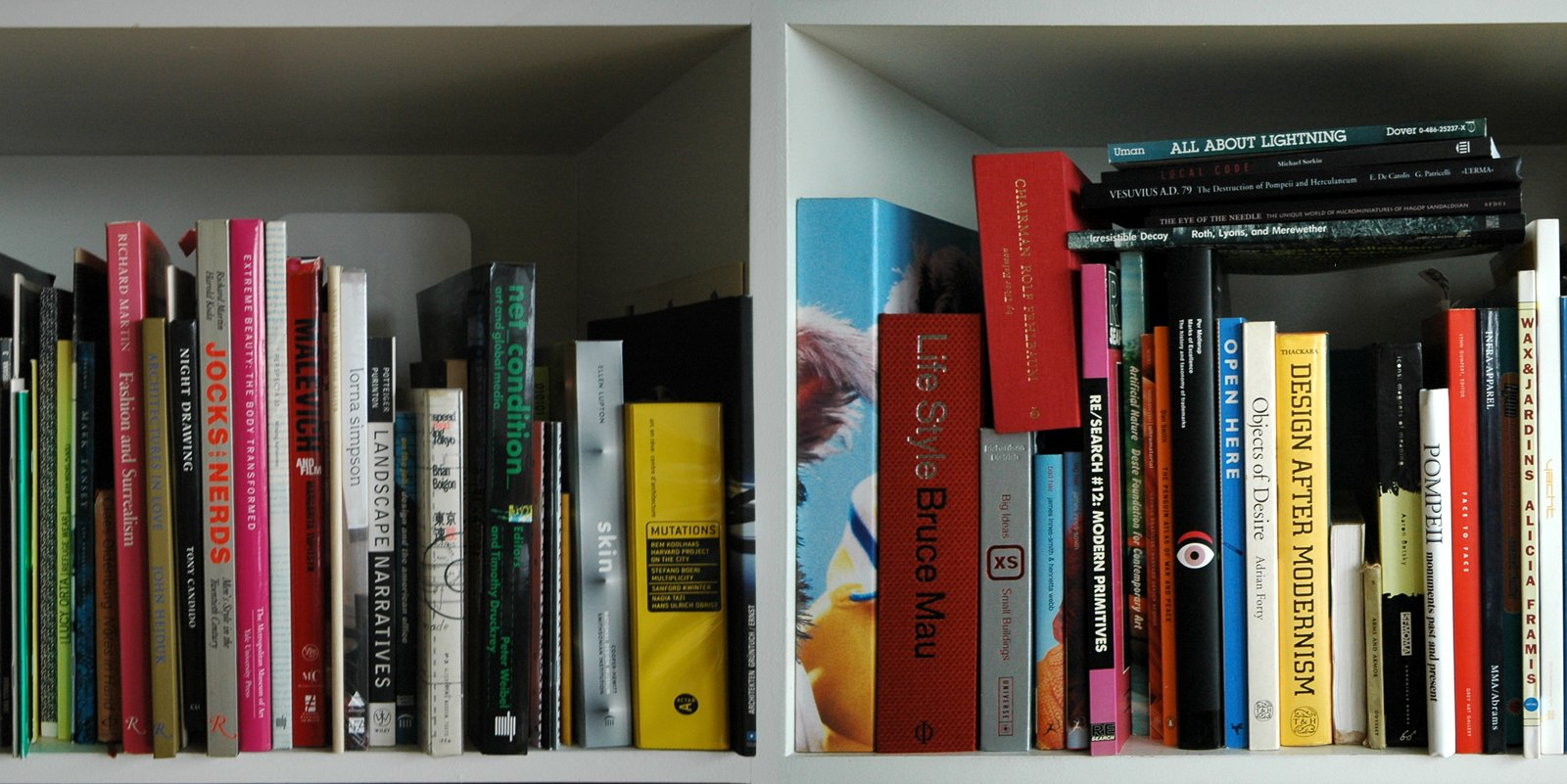 Here's a detail of Liz Diller and Ric Socfidio's bookshelves in their offices.  Photo 2 of 4 in Unpacking My Library