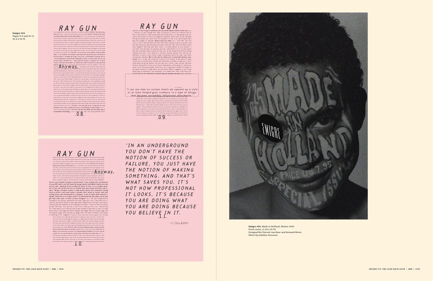 Emigre No. 70, book spread showing images from issue no. 24  Photo 3 of 9 in Emigre No. 70