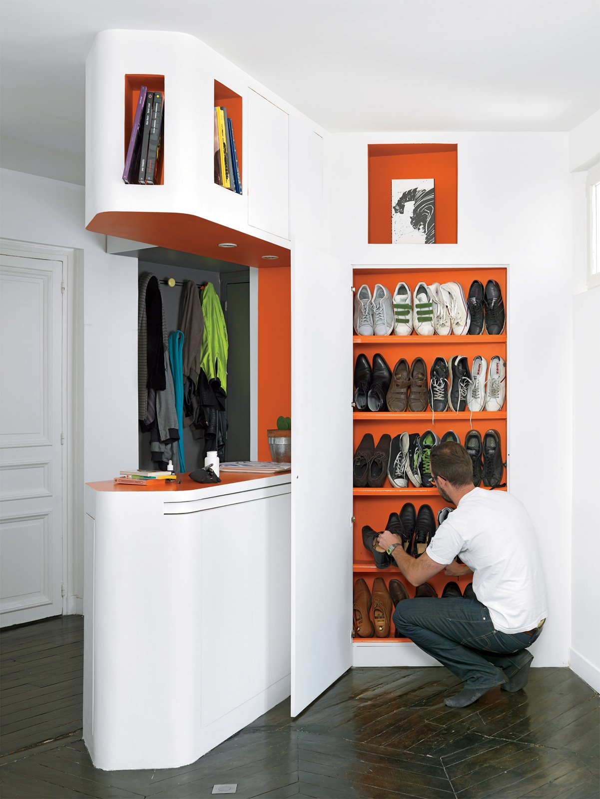 Storage Room and Closet Storage Type The shoe closet.  Storage by Dwell from Shelf Life
