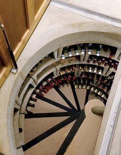 Bruce is a wine enthusiast and a stickler for efficiency, so this prefab concrete cellar with an ingenious passive ventilation system was a natural choice. It maintains a constant temperature, and its stacked horizontal bins can store up to 1,400 bottles of wine—–a good excuse to keep adding to the collection.