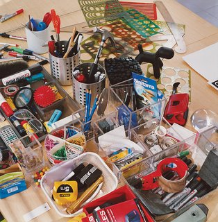 Aarnio's tools of the trade,