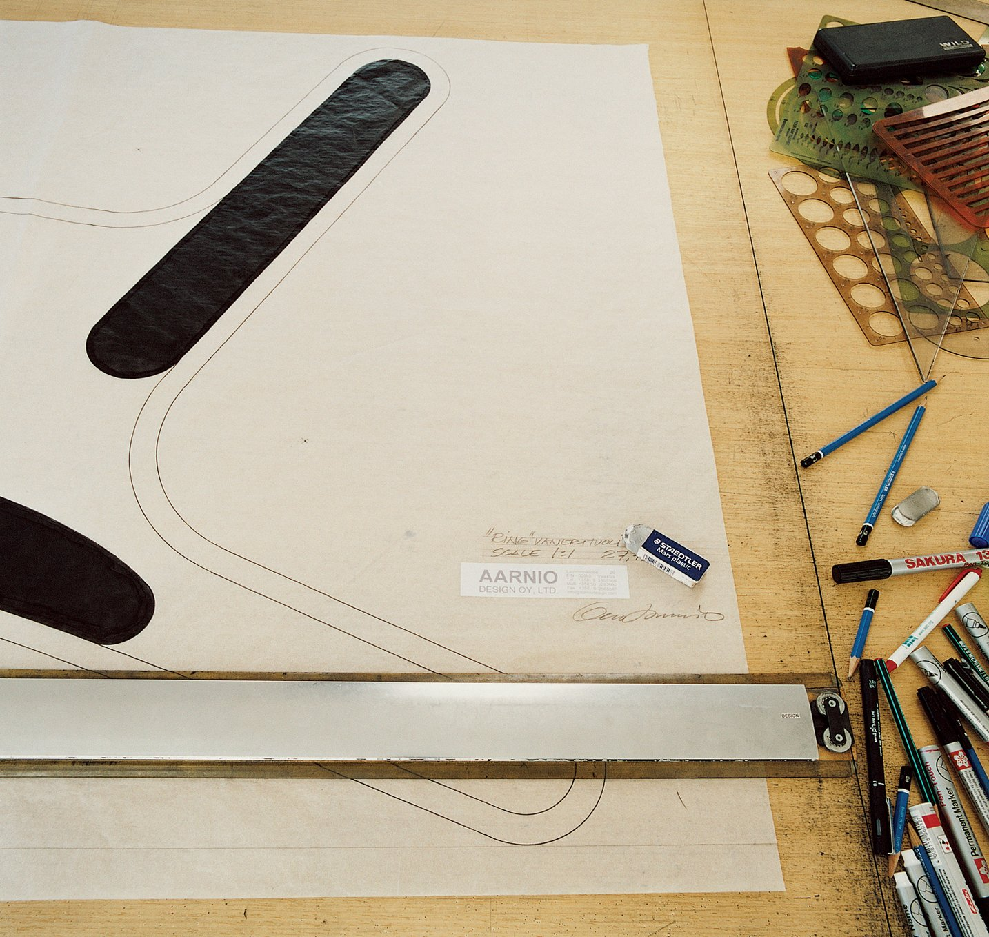 Aarnio works out his designs digitally at a drafting table.  Photo 7 of 13 in Furniture Designer Focus: Eero Aarnio