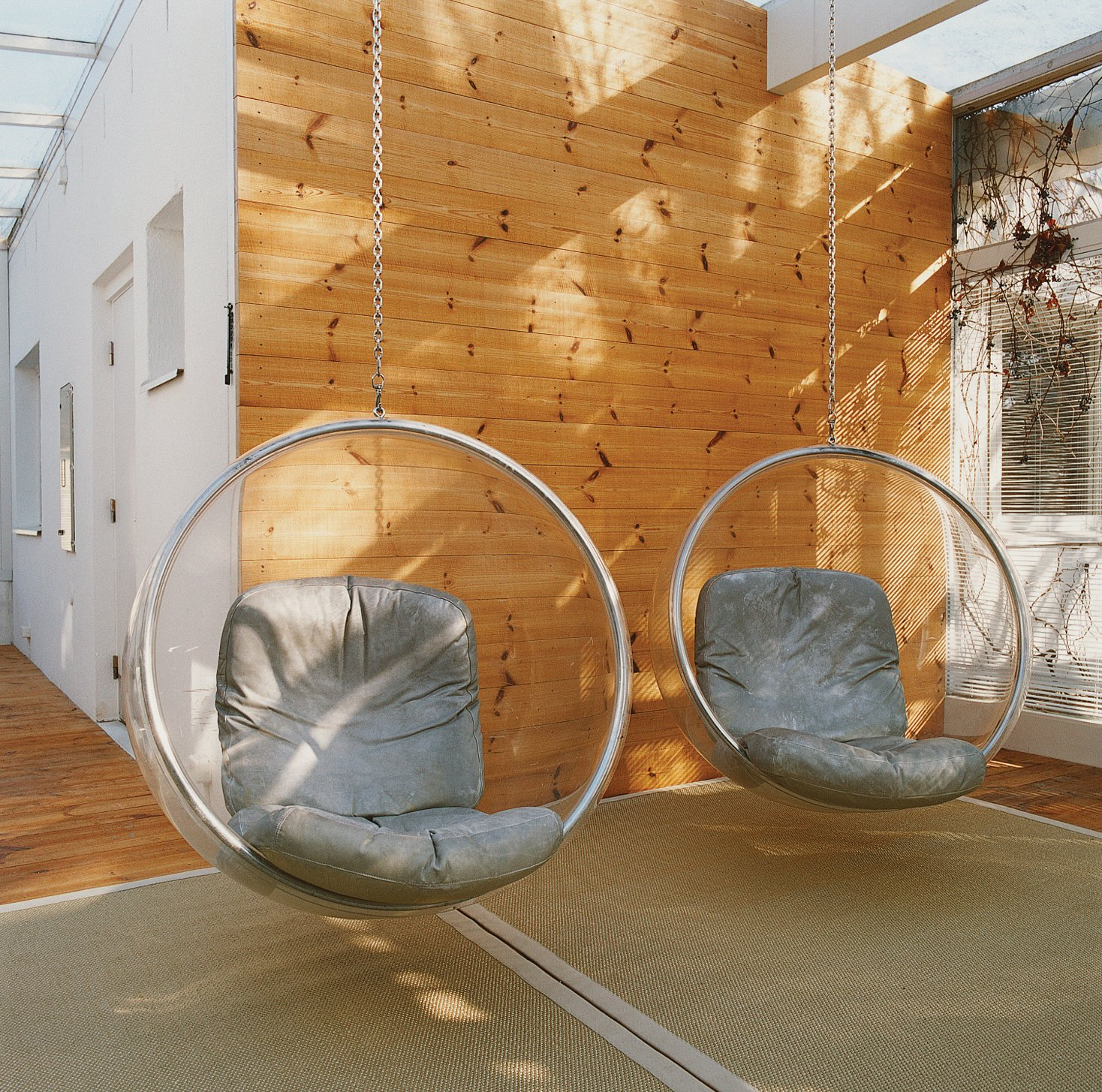 The Bubble Chair is made from a single sheet of heated acrylic.  Photo 9 of 13 in Furniture Designer Focus: Eero Aarnio