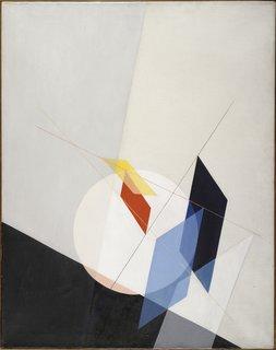<i>A 18,</i>&nbsp;Laszlo Moholy-Nagy, 1927, oil on canvas, 37 3/8 x 29 3/4 inches, 95 x 75.5 centimeters.