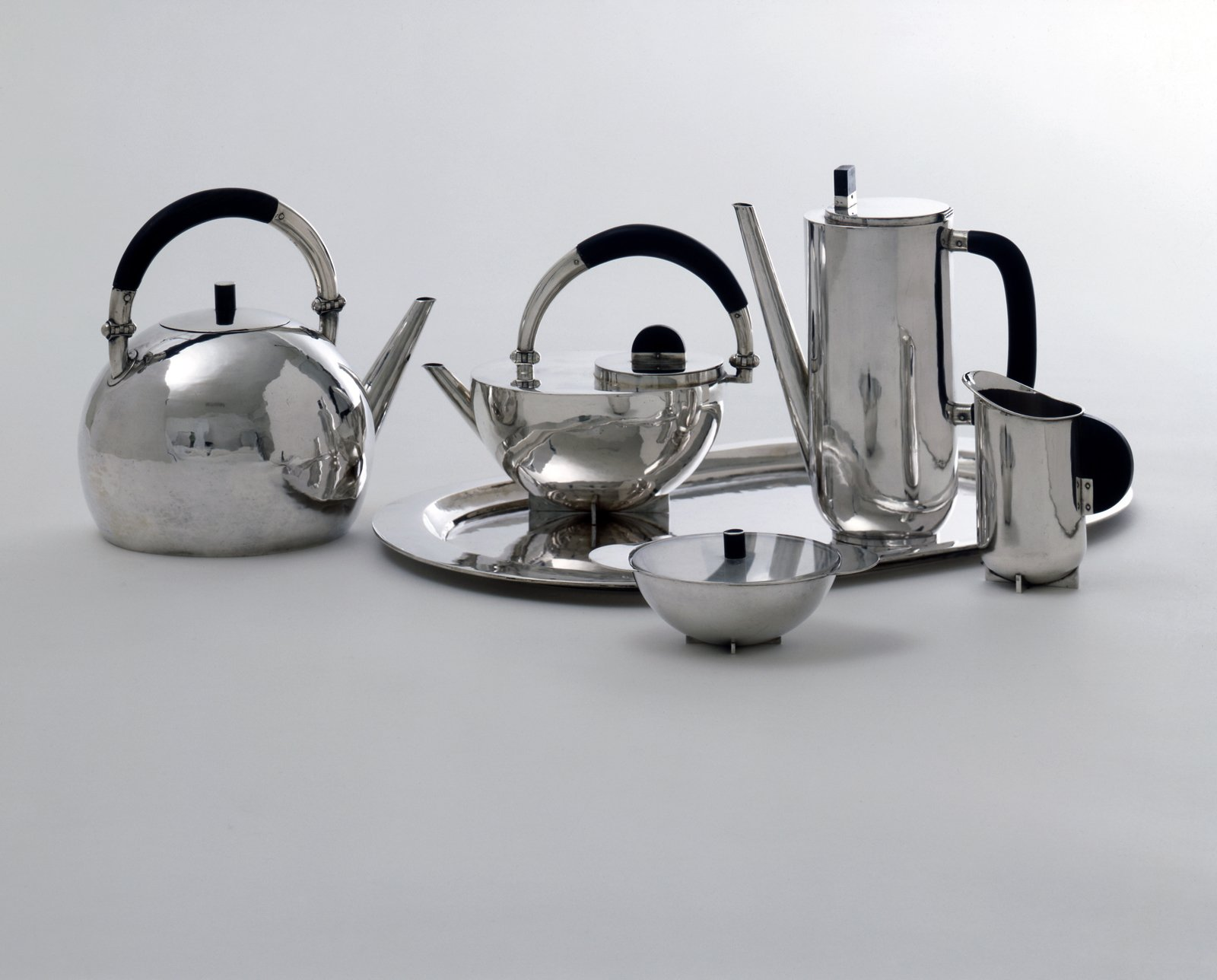 Coffee and tea set by Marianne Brandt. Image courtesy the Museum of Modern Art.  Photo 7 of 10 in 100 Years of Bauhaus: What You Should Know About This Milestone Movement from Final Weekend: Bauhaus at MoMA