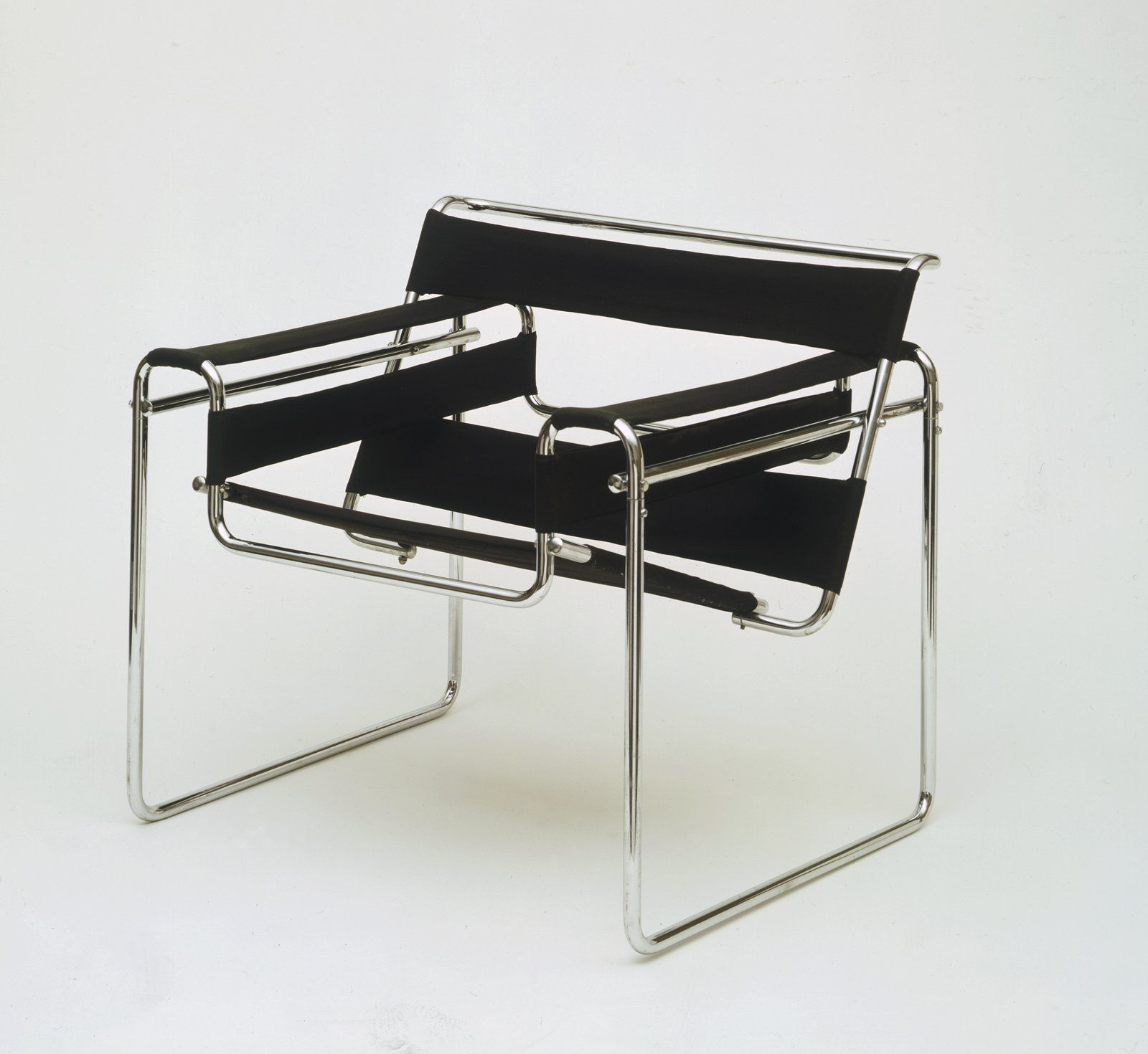 The Wassily Chair by Marcel Breuer, designed in 1925 and partially inspired by his interest in the tubular components of his bicycle.  Photo 6 of 10 in 100 Years of Bauhaus: What You Should Know About This Milestone Movement from Final Weekend: Bauhaus at MoMA