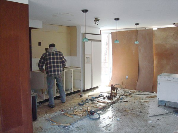 During renovations new heating-cooling and plumbing systems were embedded within.