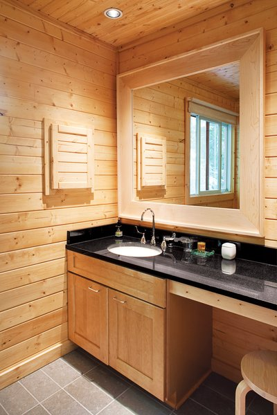 A discreet master bathroom eliminates visual clutter.  Photo 6 of 12 in Campbells' Coup
