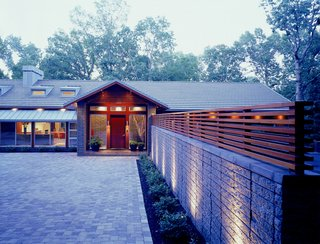 Hufft designed the Line House for his parents, many an architect's good first client.